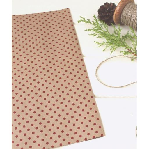 Christmas Dotty RED Wrapping Paper