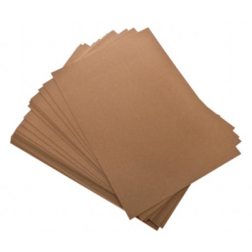 A4 Kraft Recycled paper insert sheets (Pack of 50)