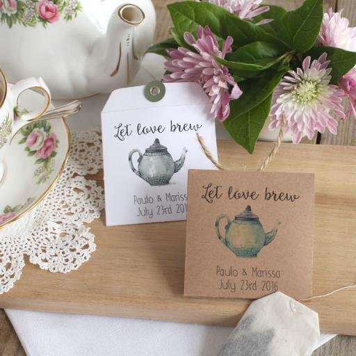 Tea bag envelopes x 25 (let LOVE brew)