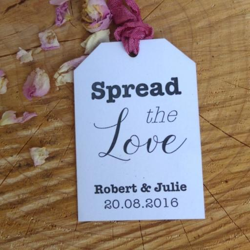 Small Angle top 'Spread the love tags' x 50