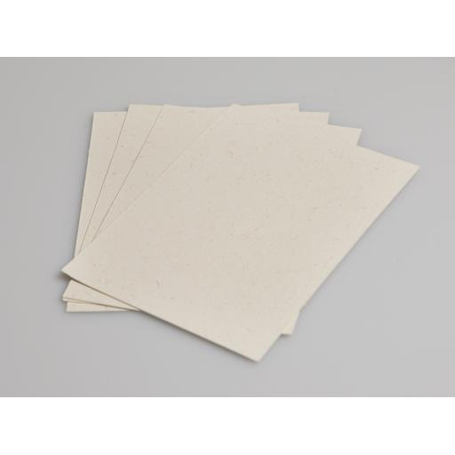 Vintage Cream Fleck A6 PostCard 285g (pack of 50 sheets) with brown kraft envelopes