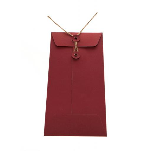 DL RED String Tie Envelopes x 25