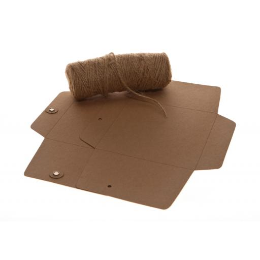 "5"" X 7"" BROWN KRAFT String Tie Envelopes x 25"