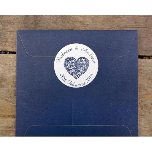 Vintage Heart Stickers x 50