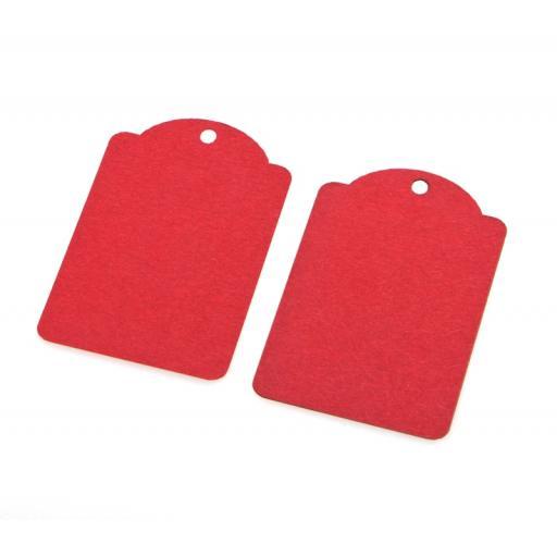 Medium RED kraft luggage tags x 50