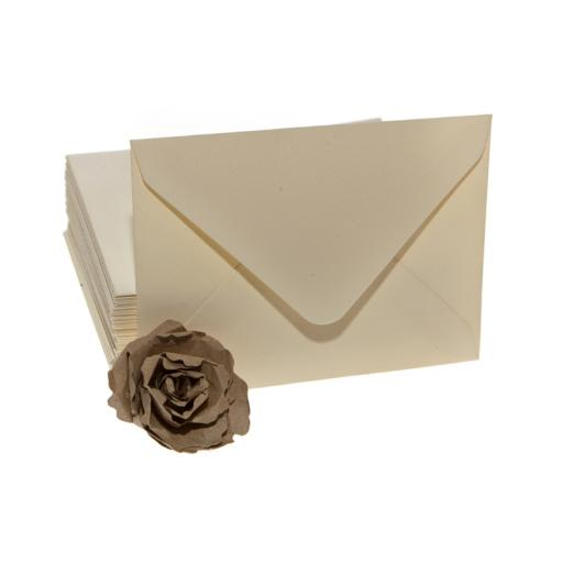Large CREAM postcard envelopes x 50