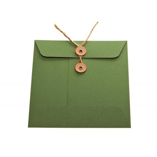 C6 SAGE GREEN String Tie Envelopes x 25