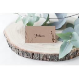Wheatgrass personalised Place Cards x 50