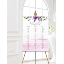 Plum Floral Wedding Table Planner