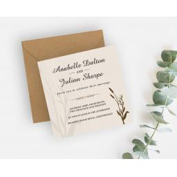 Wheatgrass Wedding Invitation - full set x 25