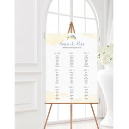 Primrose Yellow & Blue Wedding Table Planner