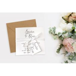Calligraphy Design Wedding Invitation - full set x 25