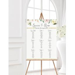 Blush Wedding Table Planner
