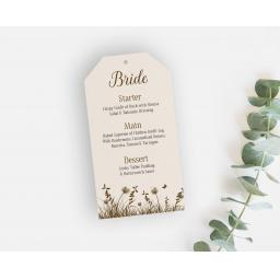 Woodland Wedding Menu Tags