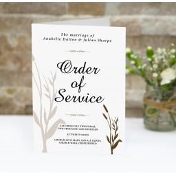 Wheatgrass order of service booklets x 50