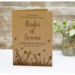 woodland order of service booklets x 50