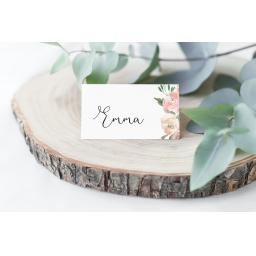 Personalised Blush Place Cards x 50