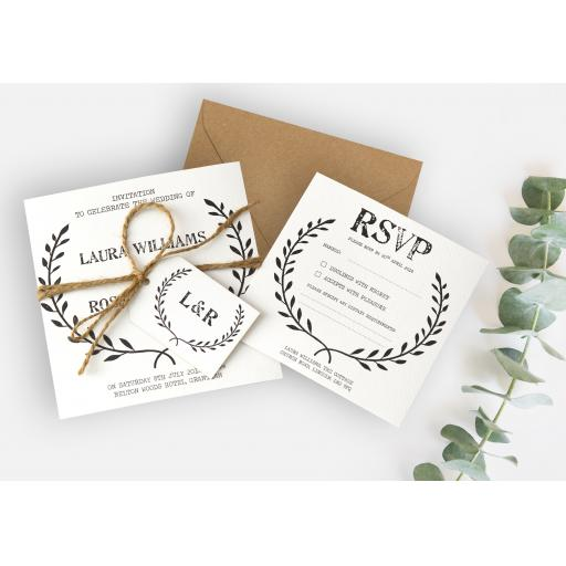Laurel Wreath Invitations - full set x 25