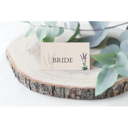 Personalised Lavender Place Cards x 50