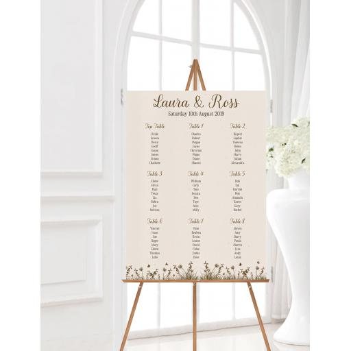 Wheatgrass Wedding Table Planner
